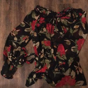 NYC size large floral blouse